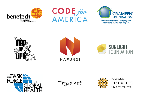 Logos of the various organizations involved in Develop for Good