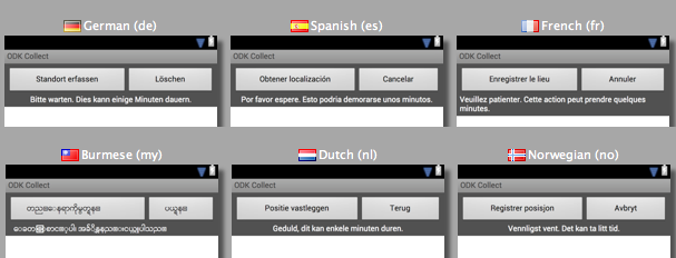 Screenshot of Android Studio's translation interface