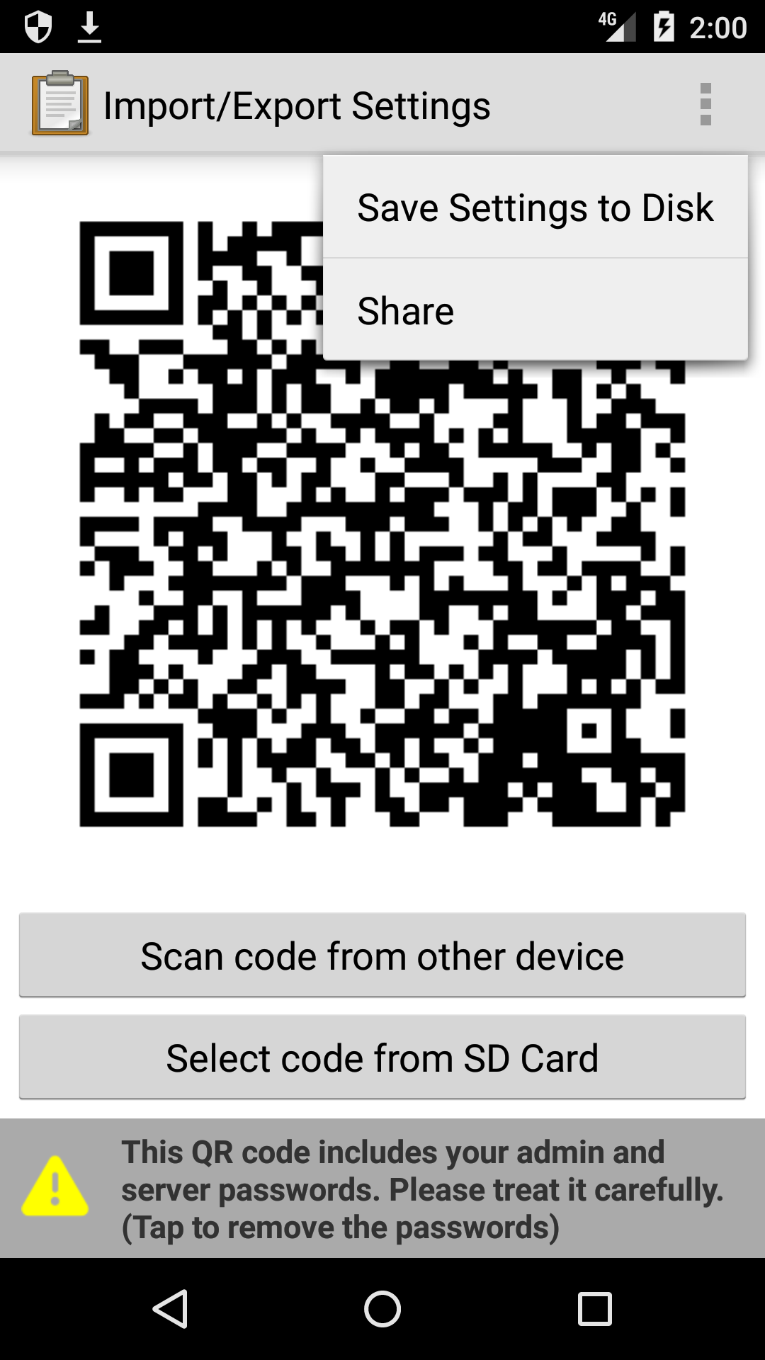 Share an image of the QR code.